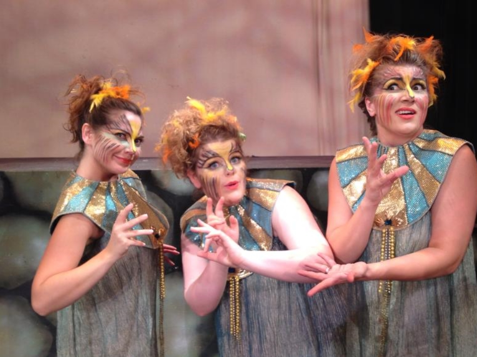 Julia Heron Metzler (center) as 2nd Lady in Die Zauberflöte.