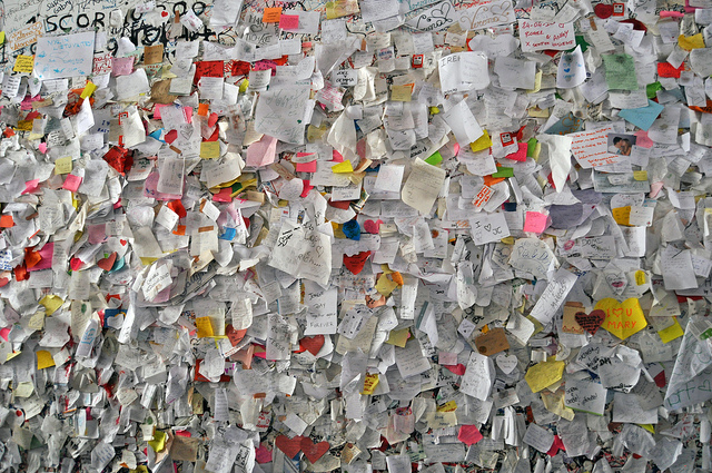 Letters left outside Juliet's House in Verona
