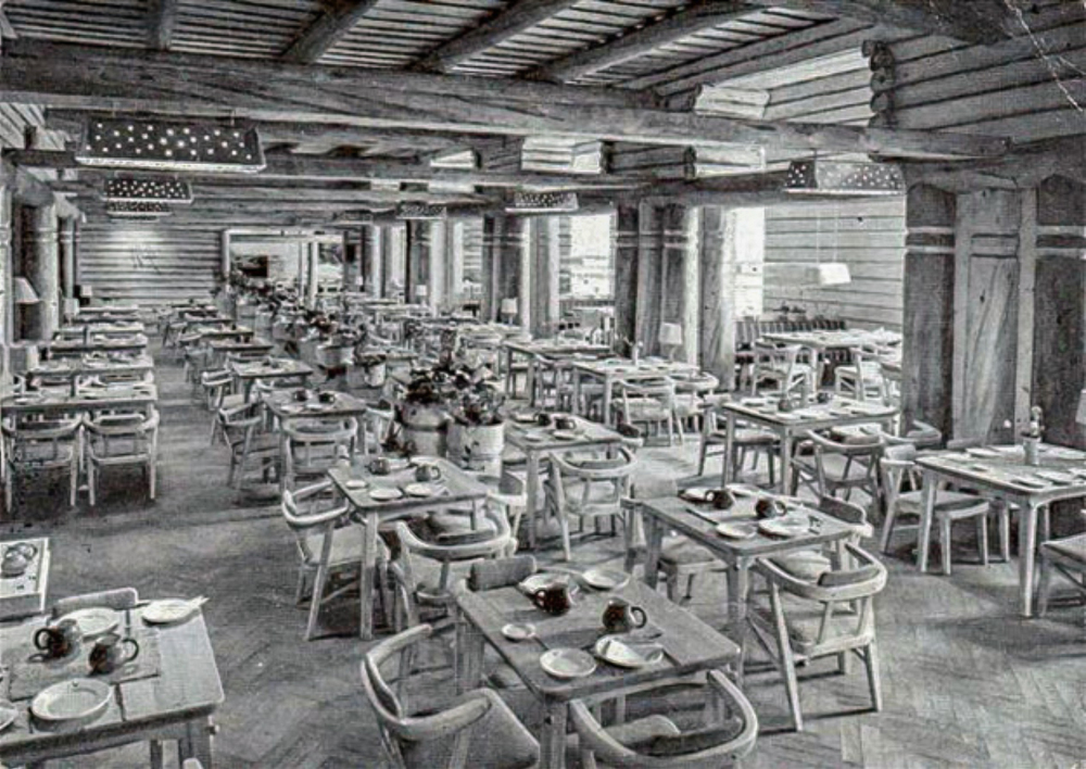 Pohjan Sali, the main dining room, c.1948. Photographer unknown, Private collection.