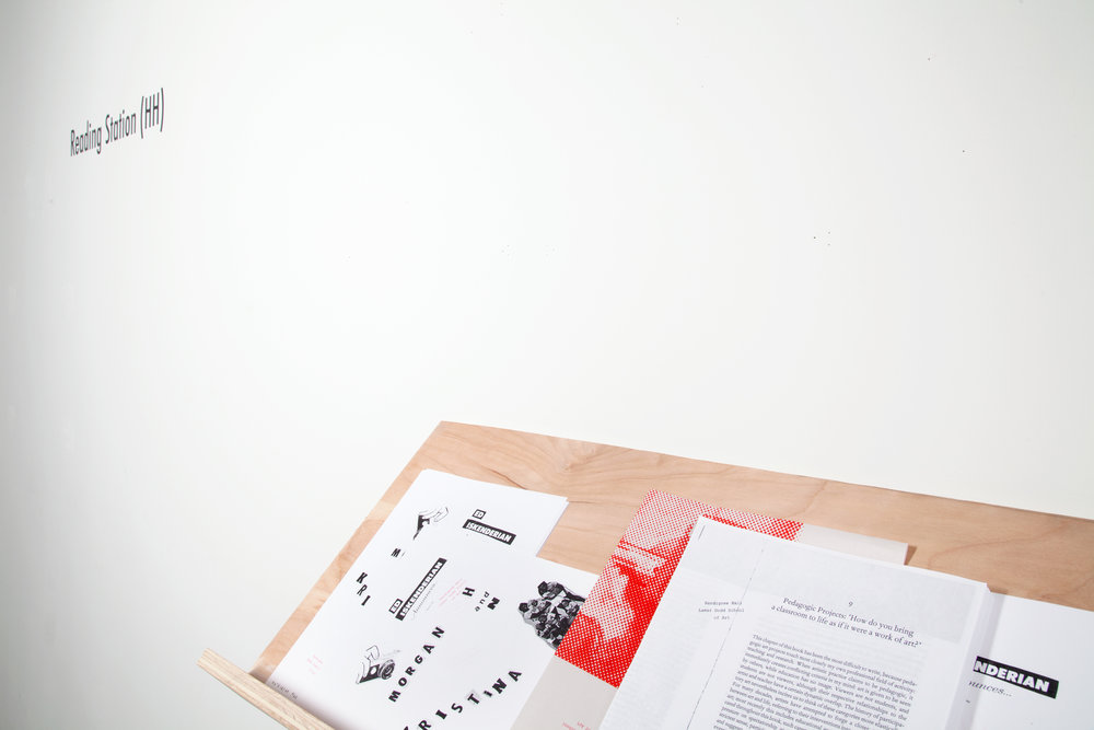 Mo Costello. Detail;  Reading Station (HH),  2016 Silkscreen artist multiples w/pencil, Edition of Ten + B/W Xerox, Endless Copies. Text by Hélène Cixou, Shunryu Suzuki, Henry James, John Berger, Claire Bishop.