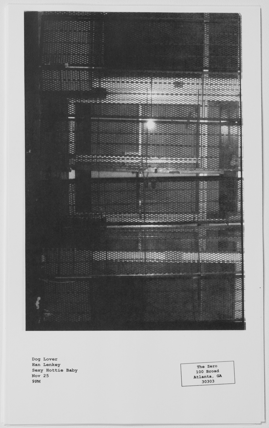 Untitled (Zero), 2018 Xerox, Self-inking Stamp Edition of 50