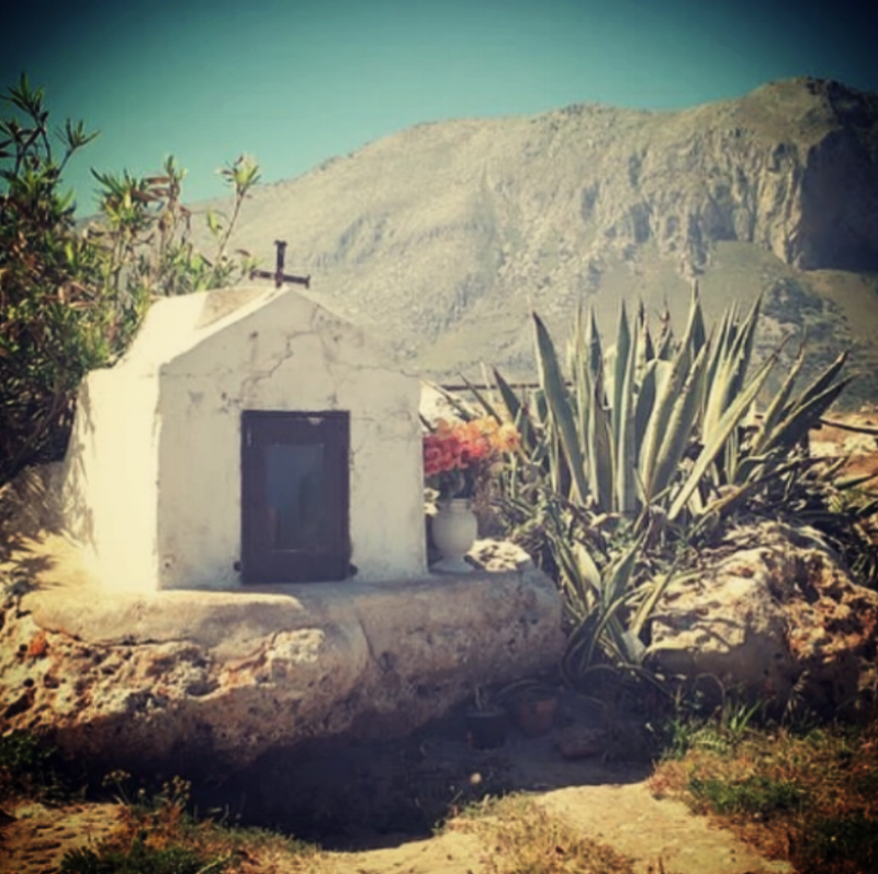 Photo taken of a random shrine in San Vito Lo Capo, Sicilia, IT.