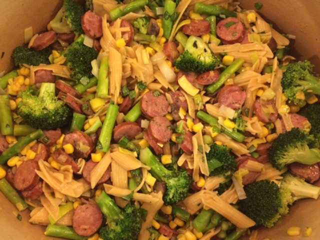 Pasta with Sausage & Veggies