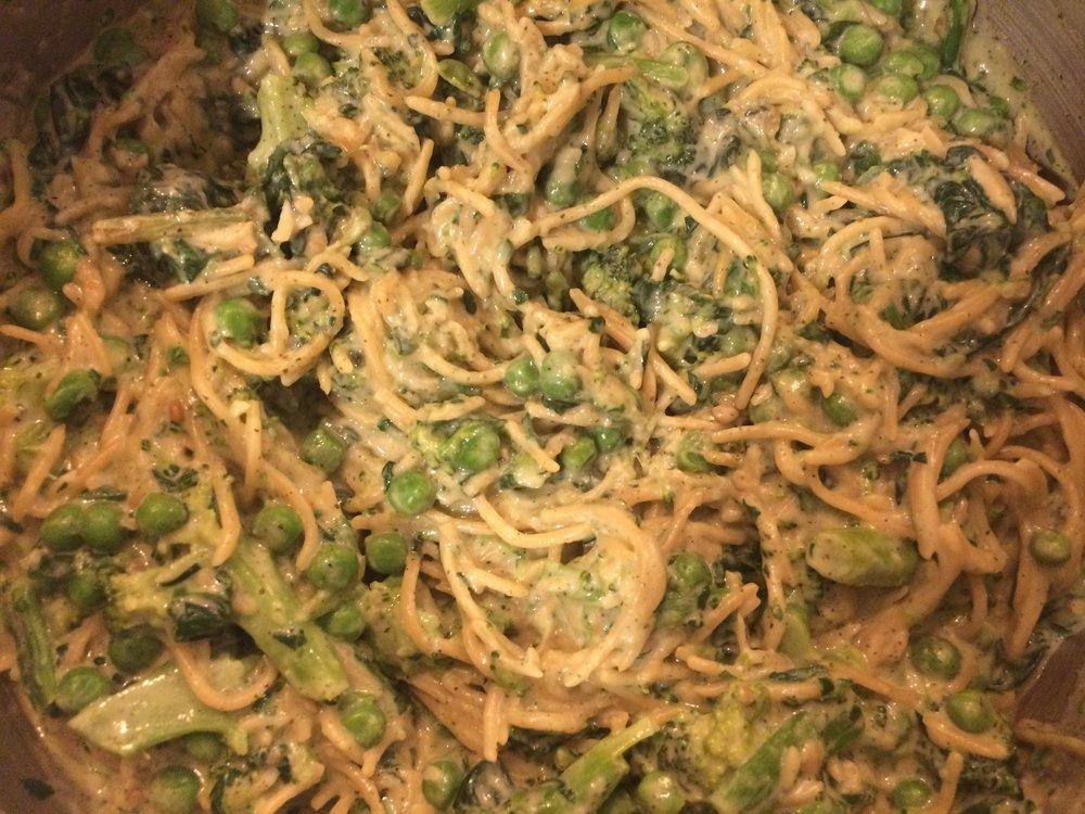 Pesto Pasta with Tons of Veggies