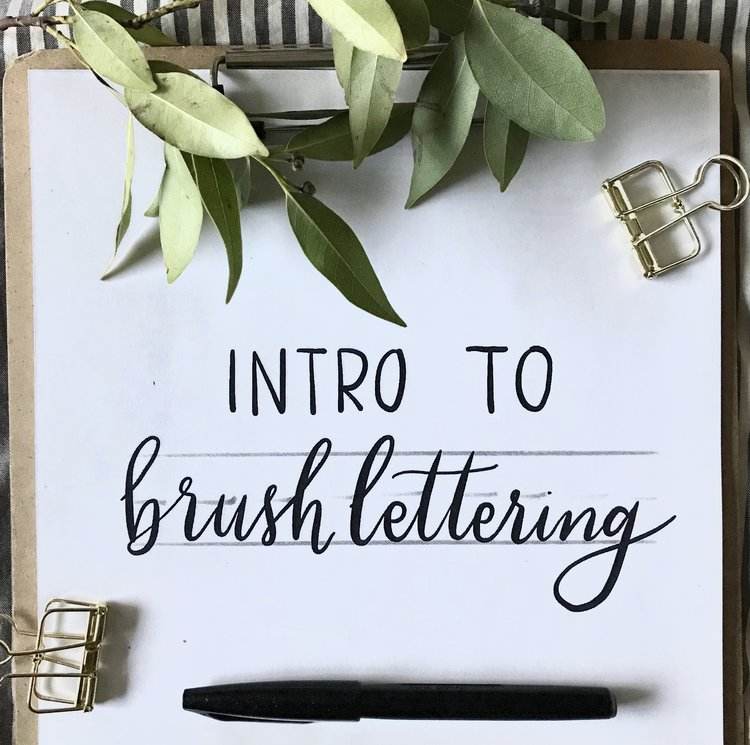 Learn The Basics Of Brush Lettering And Use These Skills To Create Your Own Card Give BFF Or Favorite Hand Lettered Quote This 2 Hour Workshop Will