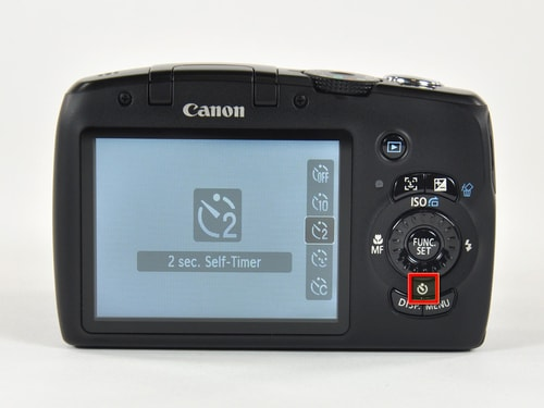 Canon PowerShot SX120 IS' 2-second timer.