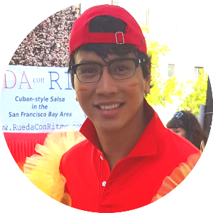 John Emmanuel Coralde  is an assistant instructor with Rueda Con Ritmo. He first started dancing with RCR in 2015 after a friend encouraged him to try a class. Since that first class, John has learned how both follow and lead and has participated in the SF Carnaval Parade and International Rueda de Casino Flash Mob Day with RCR. When he is not leading or following Casino, John is a leader of his health care team and follows doctor's orders as a pediatric orthopedic registered nurse.