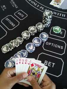 $25 ANTE, Straight Flush - Instant Cash Payout odds 200-1. Ante is paid $5,000