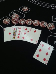 2nd Combination Flush A,Q,9,6,2 pays additional 5-1