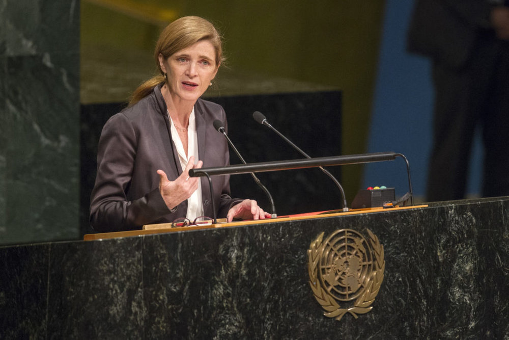 Ambassador Samantha Power -  Former US Ambassador to the United Nations