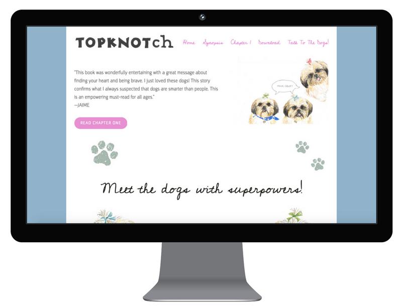 TopKnotch Dogs -web design