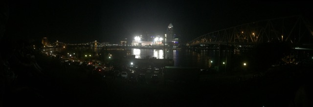 A panorama of the Cincinnati skyline on the 4th!