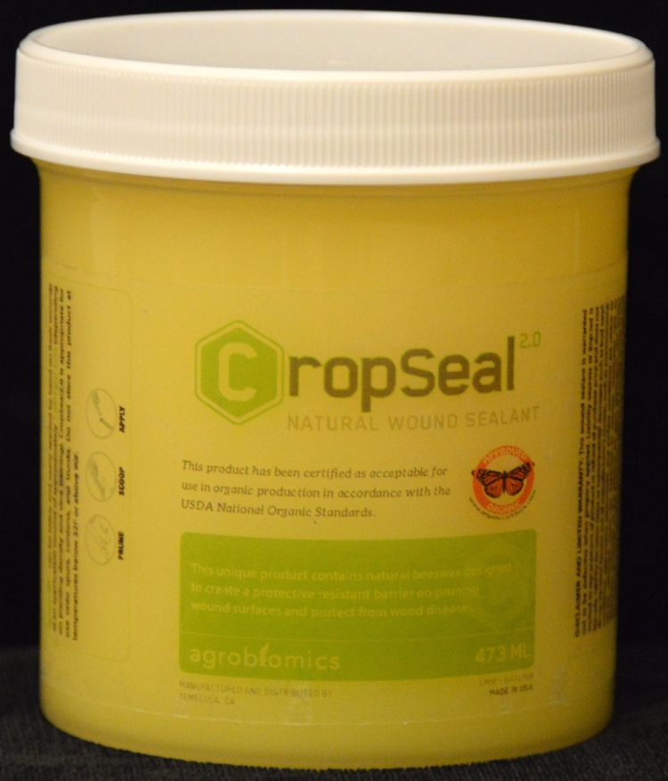 CropSeal 2.0 the only commercially available product for pruning wound protection certified for use in organic production in accordance with the USDA National Organic Standards.