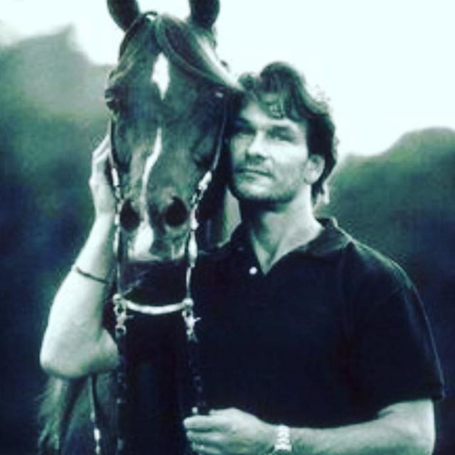 Happy Friday... Here is Patrick Swayze with a horse.  #swayze #swayzeandahorse #happyfriday