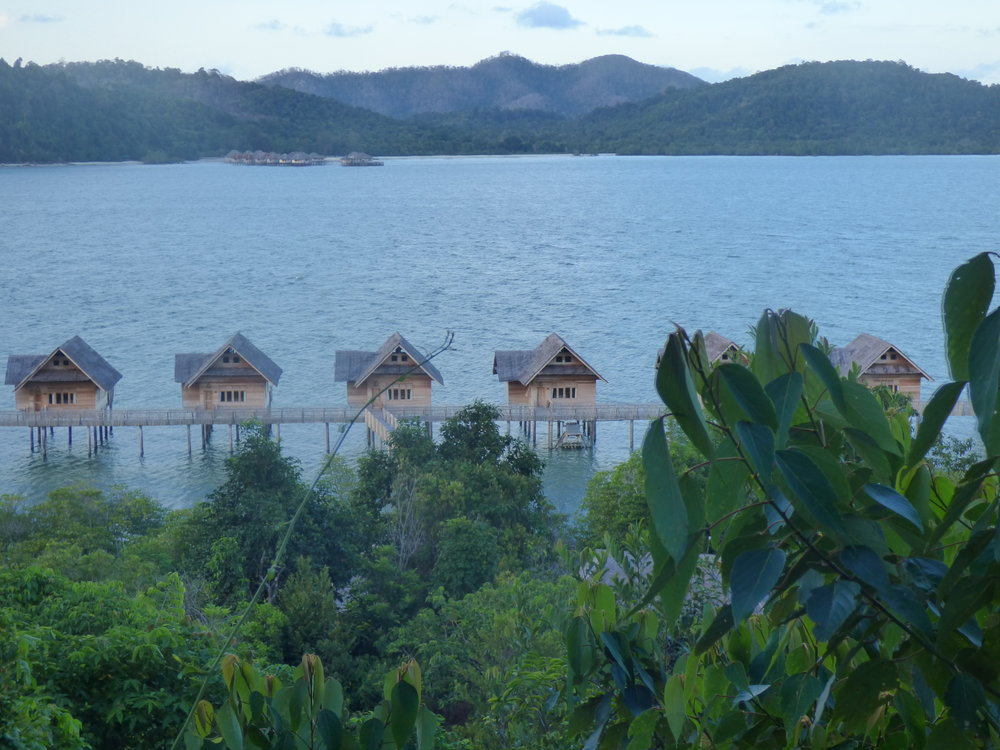 Sea Villas at Telunas Private Island in Indonesia.