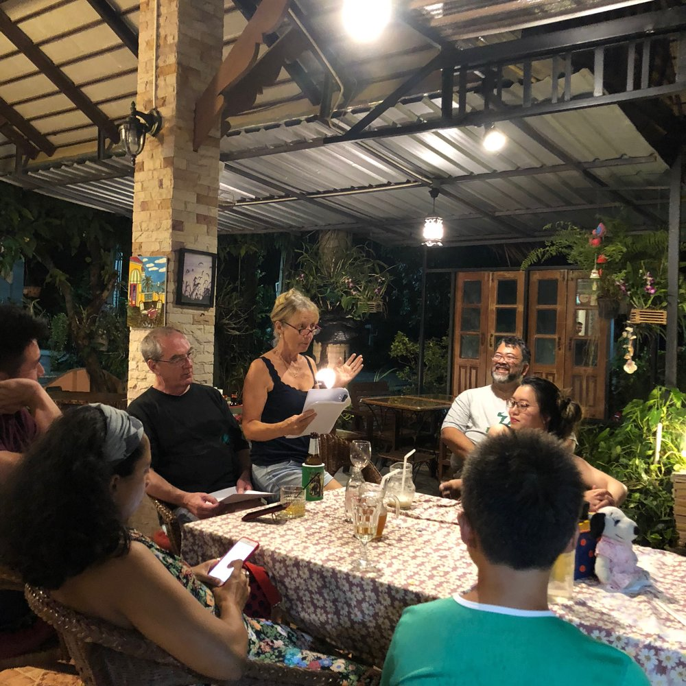 A group reading at our Hua Hin retreat last year!