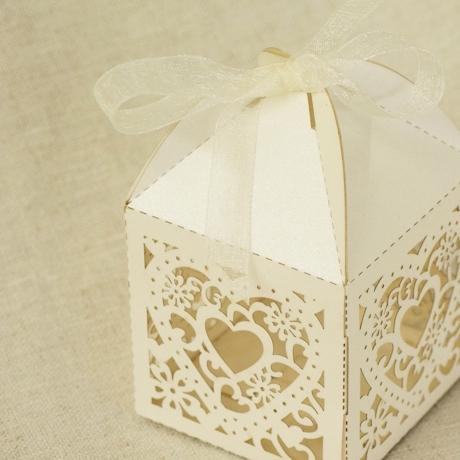 Heart Bonbonniere Box, Laser Cut