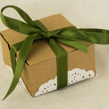 Craft Bonbonniere Box With Lace and Ribbon