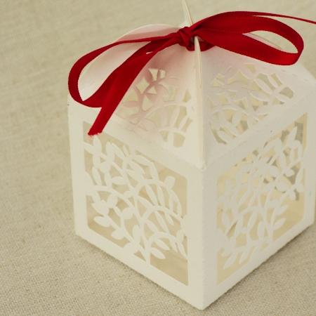 Laser Cut Vine Bonbonniere Box