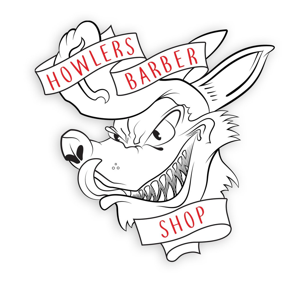 Howlers Barber Shop Logo