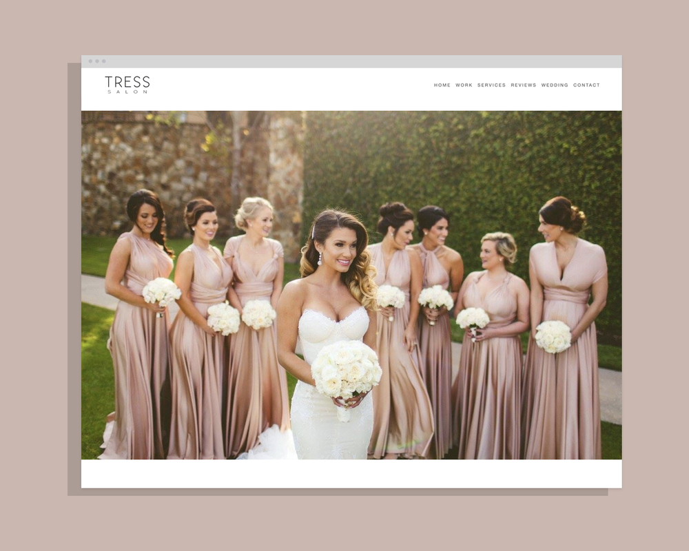 Tress Salon - Website