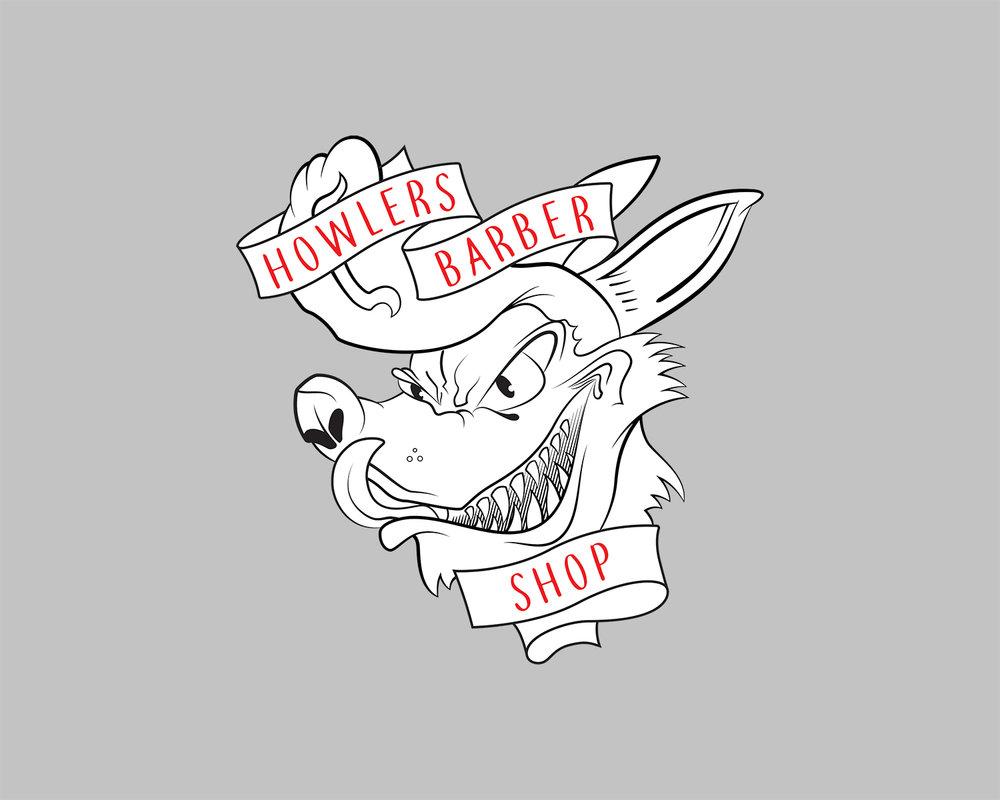 Howlers Barber Shop - Logo + Branding