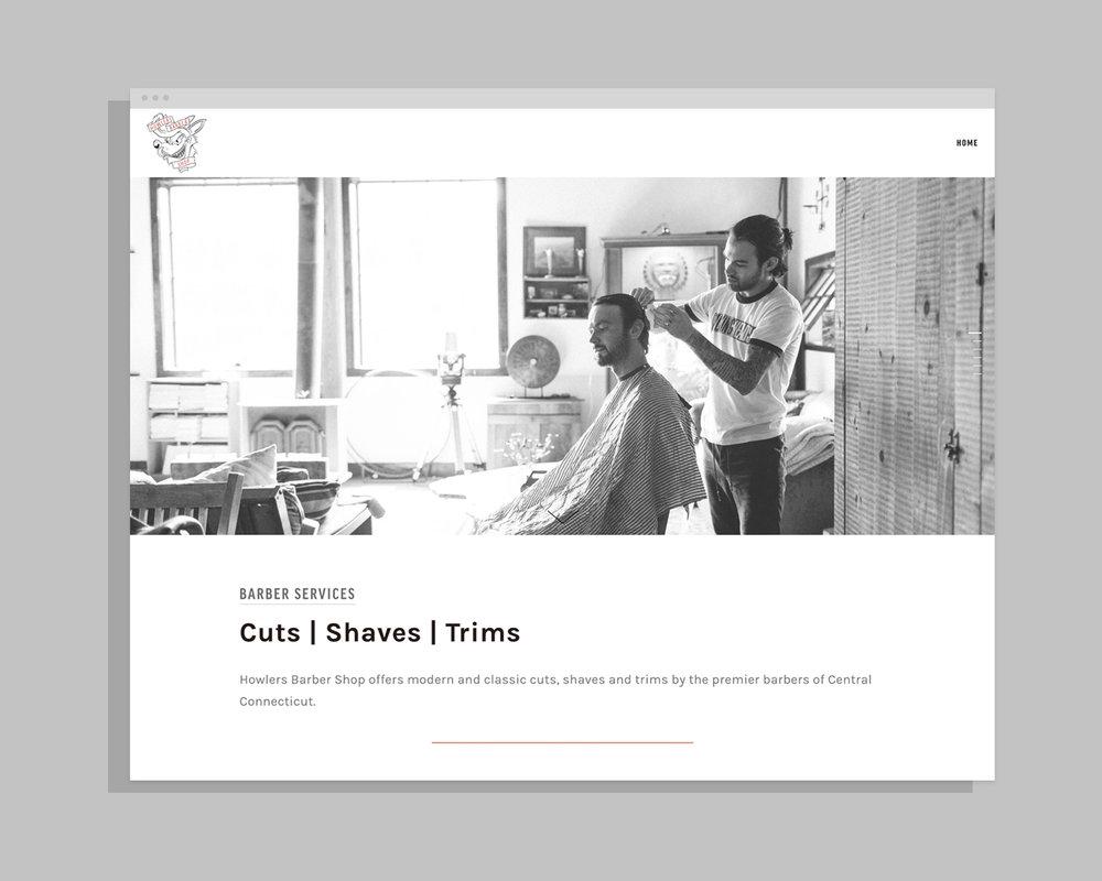 Howlers Barber Shop - Website + Strategy