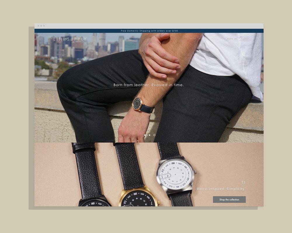 LTHR Supply - Branding + Website