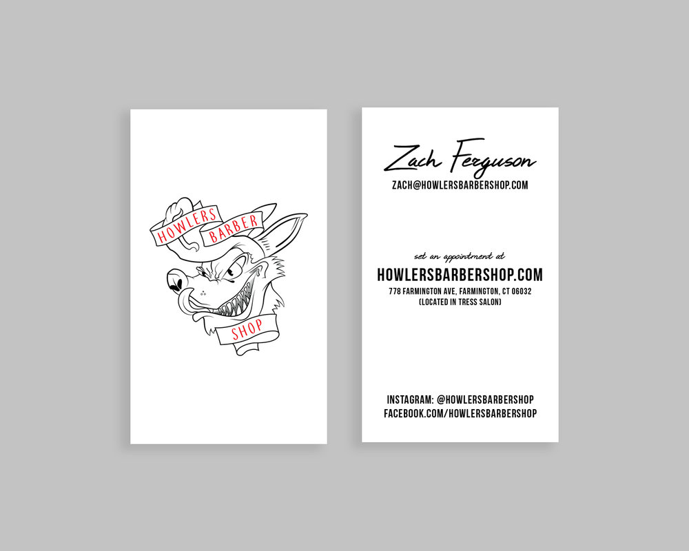 Howlers Barber Shop - Marketing Collateral