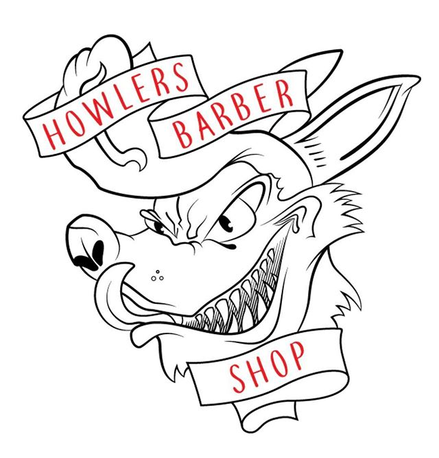 Brand Design  The goal for Howlers Barber Shop was to create a more reliable experience while maintaining a laid-back atmosphere that customers prefer.  The custom logo compliments these aspects and provides a signature look for the brand.