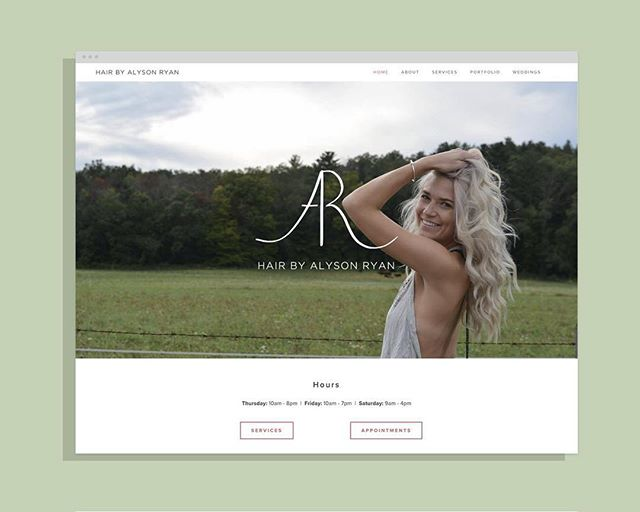 Alyson Ryan of @hair_by_alyson_ryan wanted to grow her business. She approached Design Swell to build her brand and website.  Read the story here: designswell.co/blog