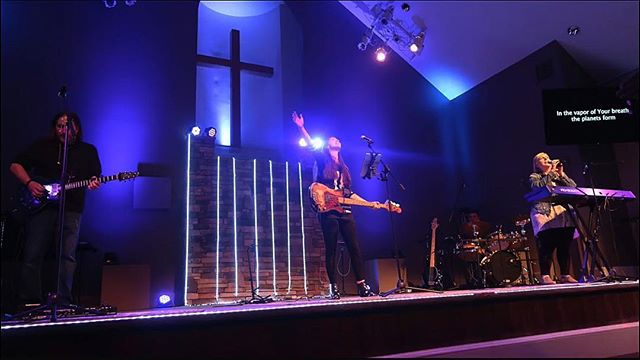 Its an honor and a privilege to lead others in worship. Last weeks Women's Night of Worship at @lakesidechurchatlakeoconee was a reminder of our posture and calling. Thanks for having us!  @missy.kirkland @deanna_the_first @steveestewart #worshipleaders #WNOW #encourage #inspire #jesusismyrockandthatshowiroll #lookto #singersongwriter