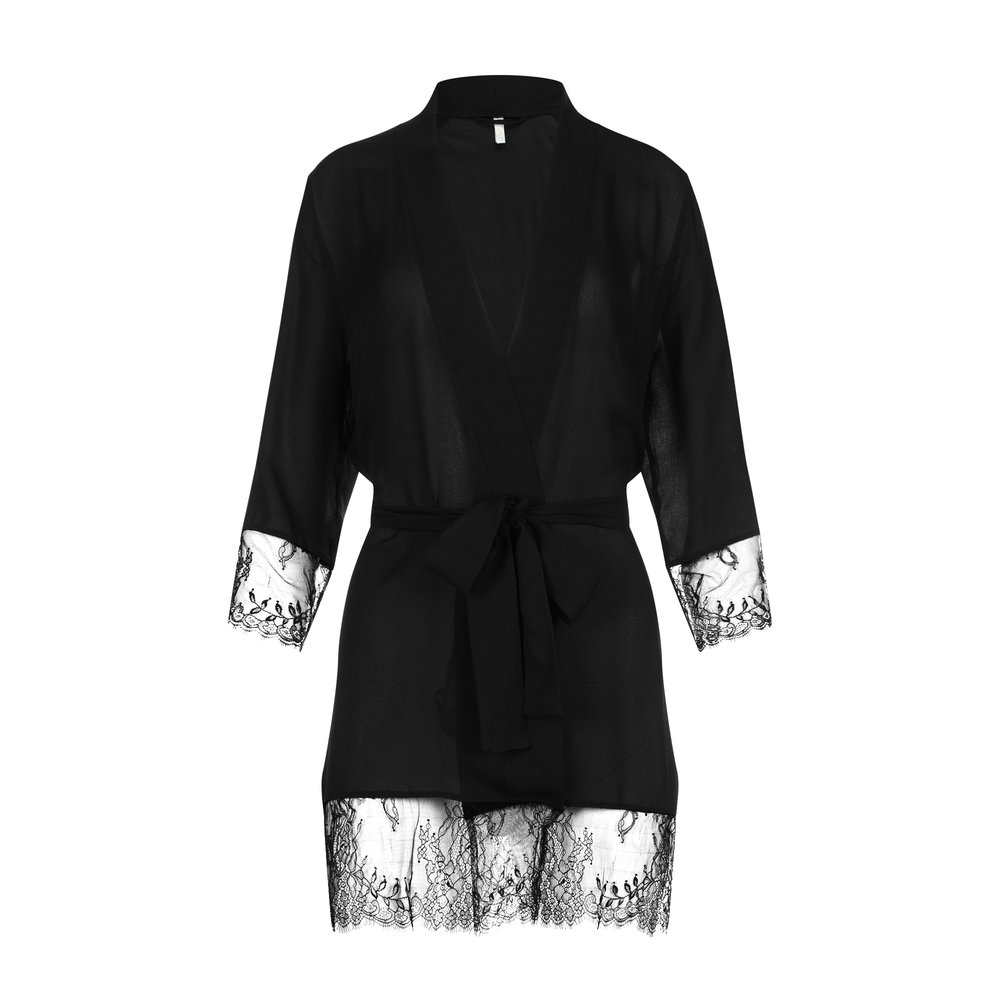 Adorn Les Dessous_Luxurious Silk Georgette and Lace Robe-Noir_$370.jpg
