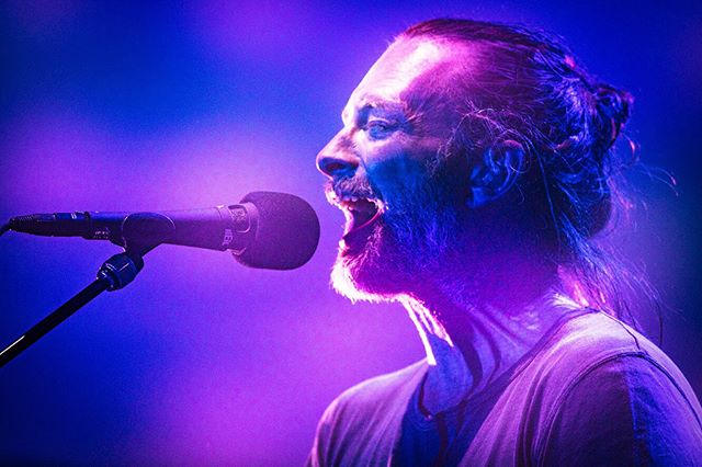 Radiohead perform at Madison Square Garden on their second night of four sold out shows.