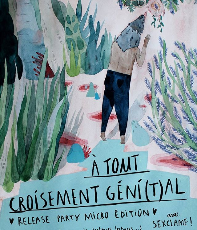 Yay! The pre-order for our book project À tout croisement géni(t)al are still open in my etsy shop! And I'm so happy to tell you about the release party which is gonna be so 🔥💣❤ #art #illustration #artwork #paper #pattern #painting #watercolor #print #queer #queerart #queerdick #allbodiesaregoodbodies #findthepleasure #preorder #badgedesign #bestiairequeer #releaseparty #sexclame #lapartdesanges