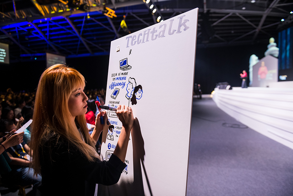 Graphic Recording▬ - The process of creating real-time visual summaries at scale.Also known as visual facilitation, graphic facilitation, and live scribing - we are experts in listening and synthesising content.