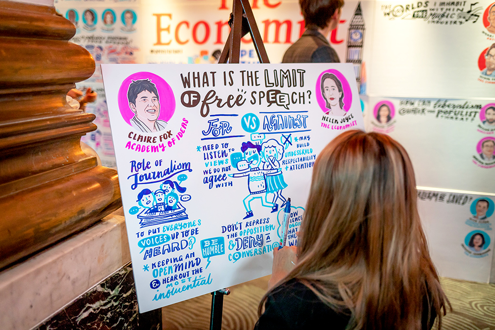 What is the impact of graphic recording done right for an established international brand? - We provided a space for dynamic dialogue which attracted a wider and digital audience.