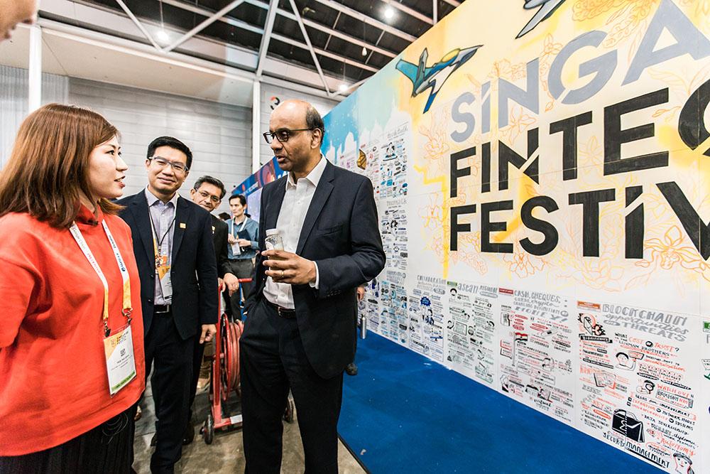 Graphic Recording Singapore Fintech Festival