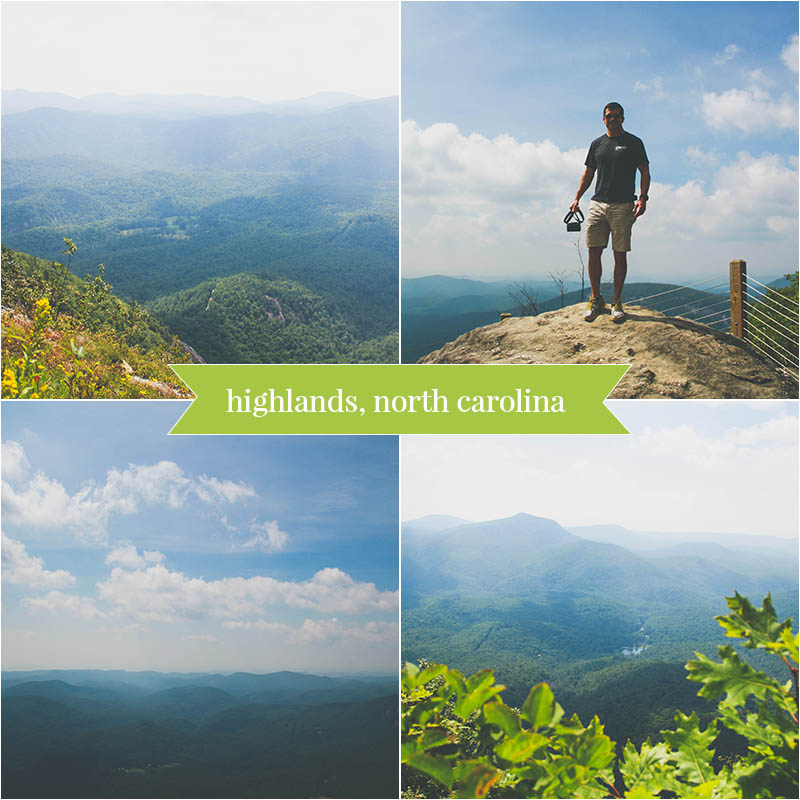 3 Photo Collage Templates | Hiking in Highlands, North Carolina