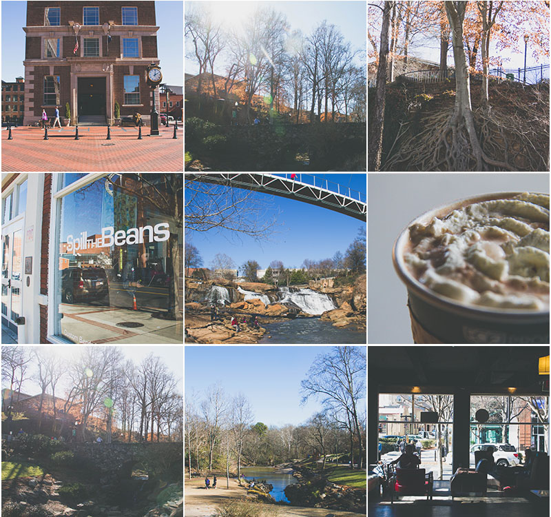 9 Photo Collage - Downtown Greenville  - Free Template