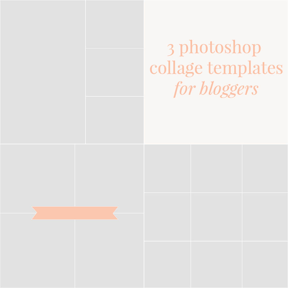 3 Free Photoshop Collage Templates for Bloggers // broad & main