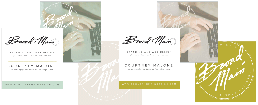 Broad + Main Business Card Design