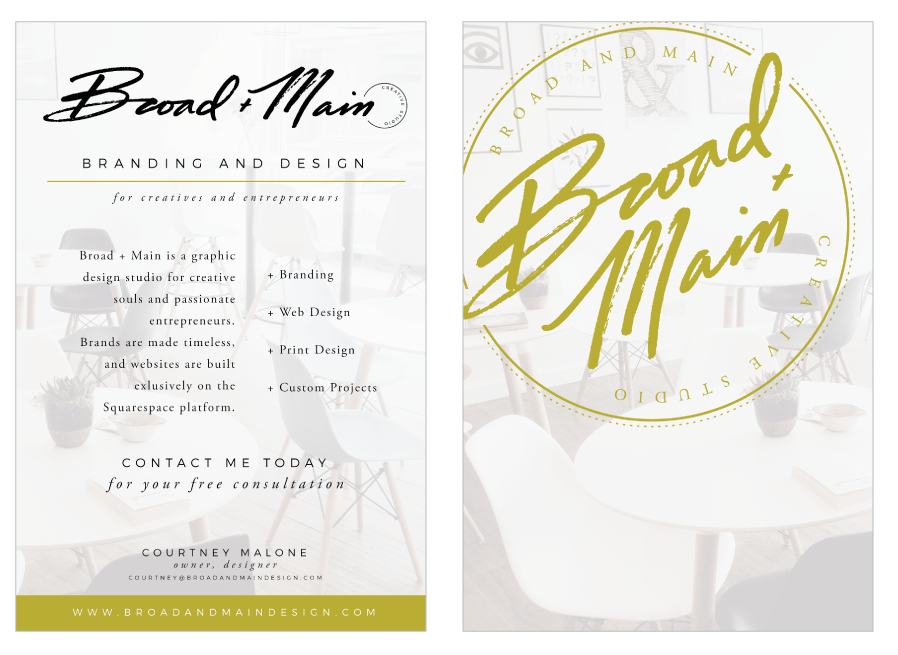 Broad + Main Flier Design