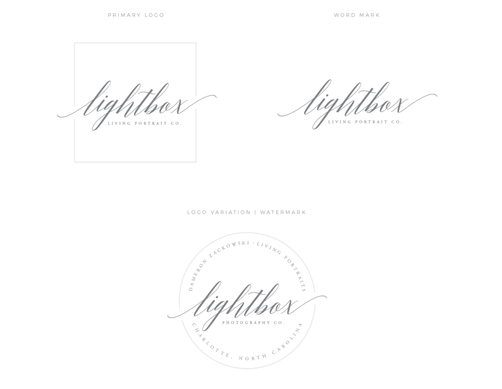 Lightbox Living Portrait Co. | Logo Design by Broad + Main