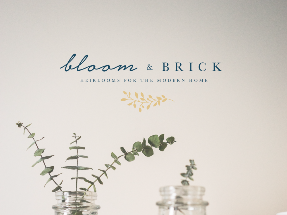 Custom Elegant Logo Design | Bloom & Brick