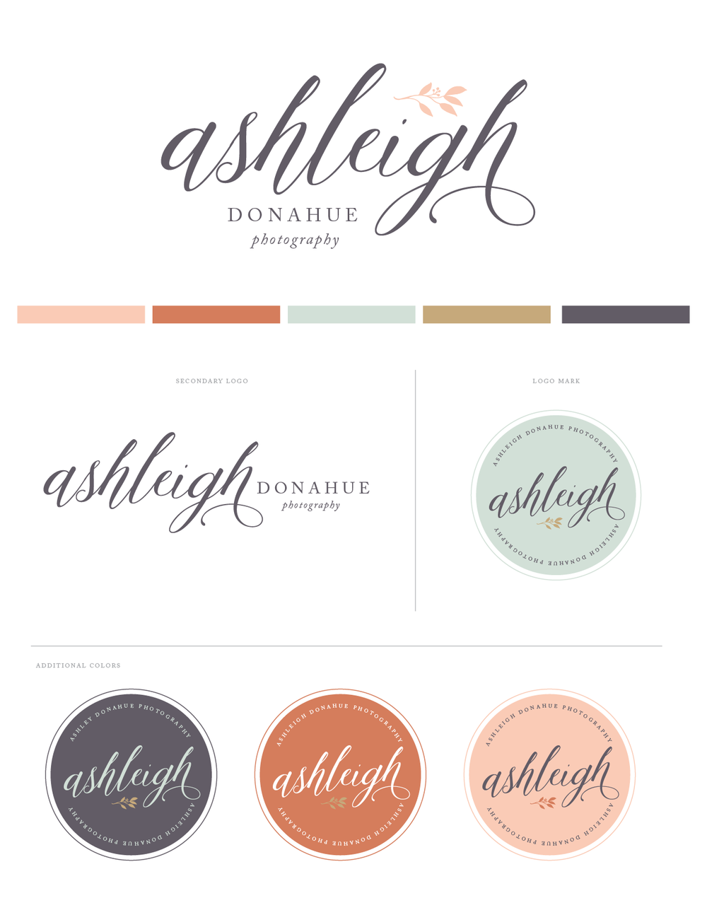 Broad and Main Brand and Logo Design for Photographers specializing in Squarespace