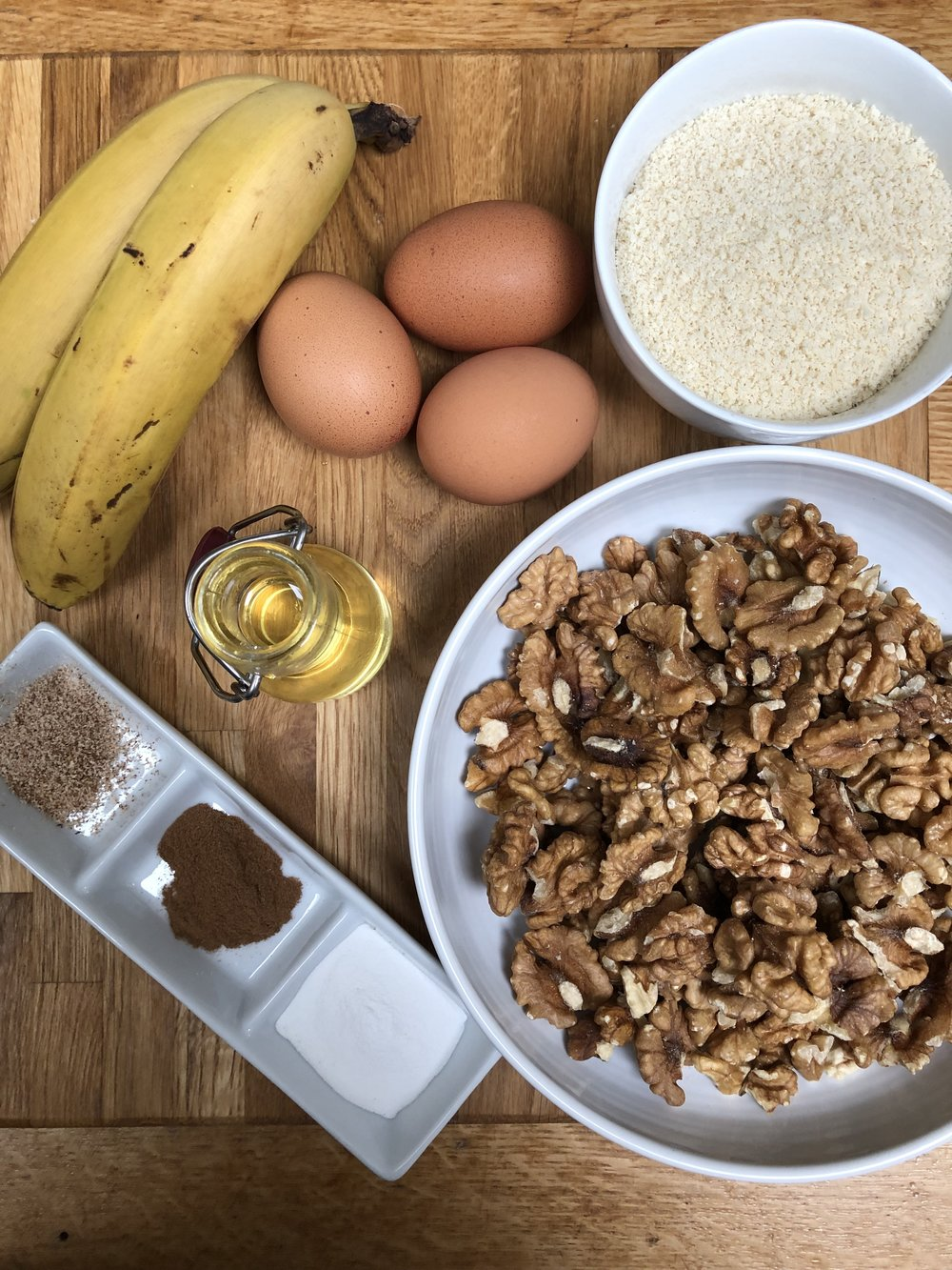 Ingredients for Banana and Walnut Bread