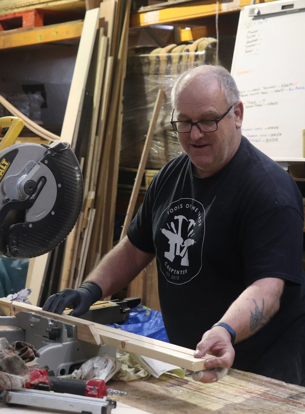 Andy Dunham - Andy Dunham works with Ollie and has been influential in various projects for the past 6 years. Andy has a wealth of engineering and fabrication knowledge and trained as an Engineer in the 1980's in and around Sheffield and South Yorkshire.Andy also studied at Sheffield Hallam University and has a degree in Metalwork and Jewellery.Andy's passion is most definitely making, he is happiest with a tool in hand and something to get stuck in to, along with a good cup of Tea.Andy's skill set is a vital component in the delivery of our projects and He continues to innovate how we use the workshop and the tools within it.