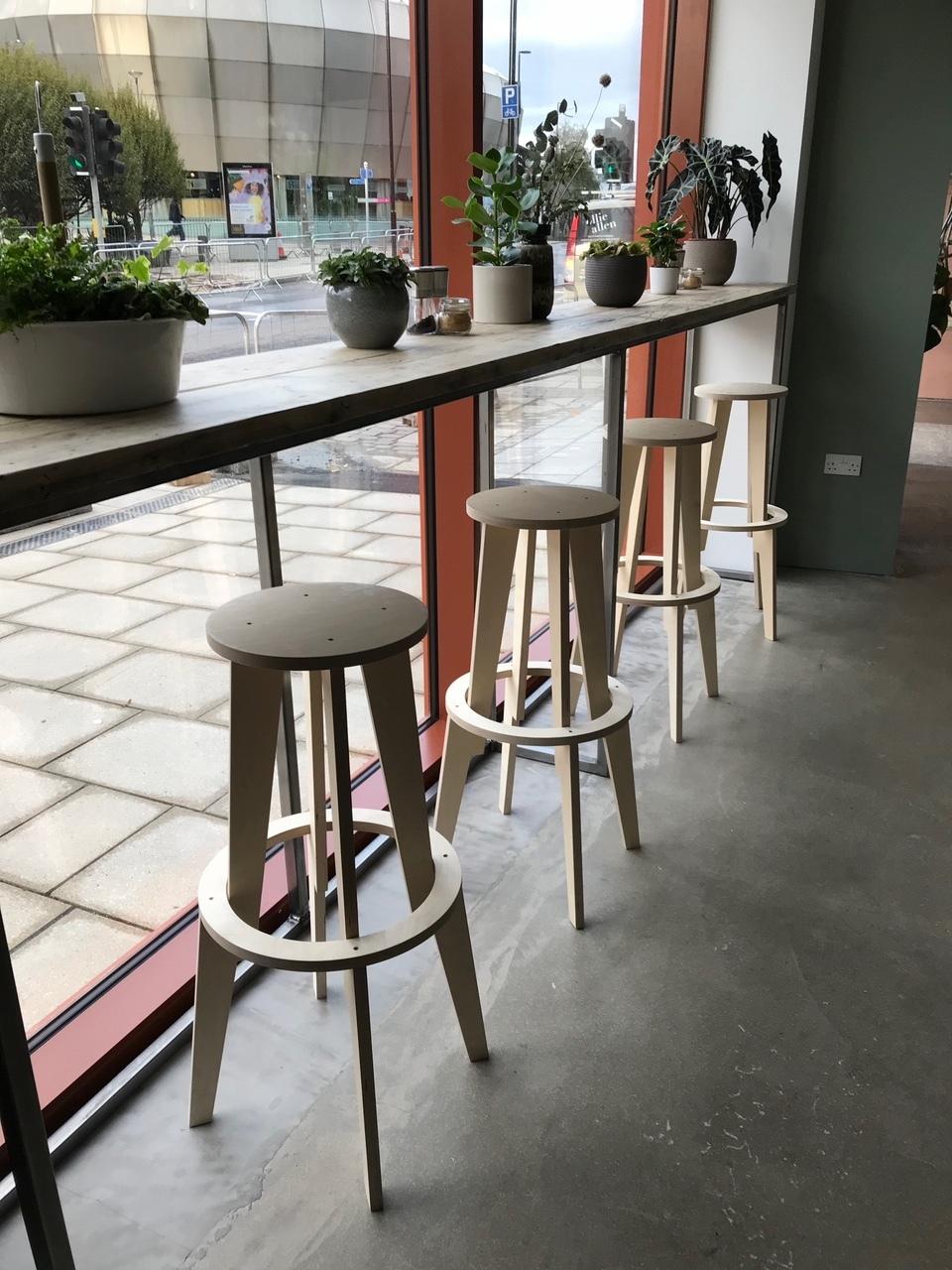 CNC Cut Cafe Stools