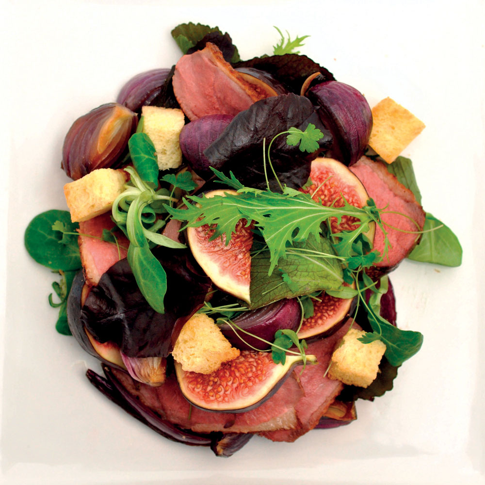 Duck, beet and fig salad